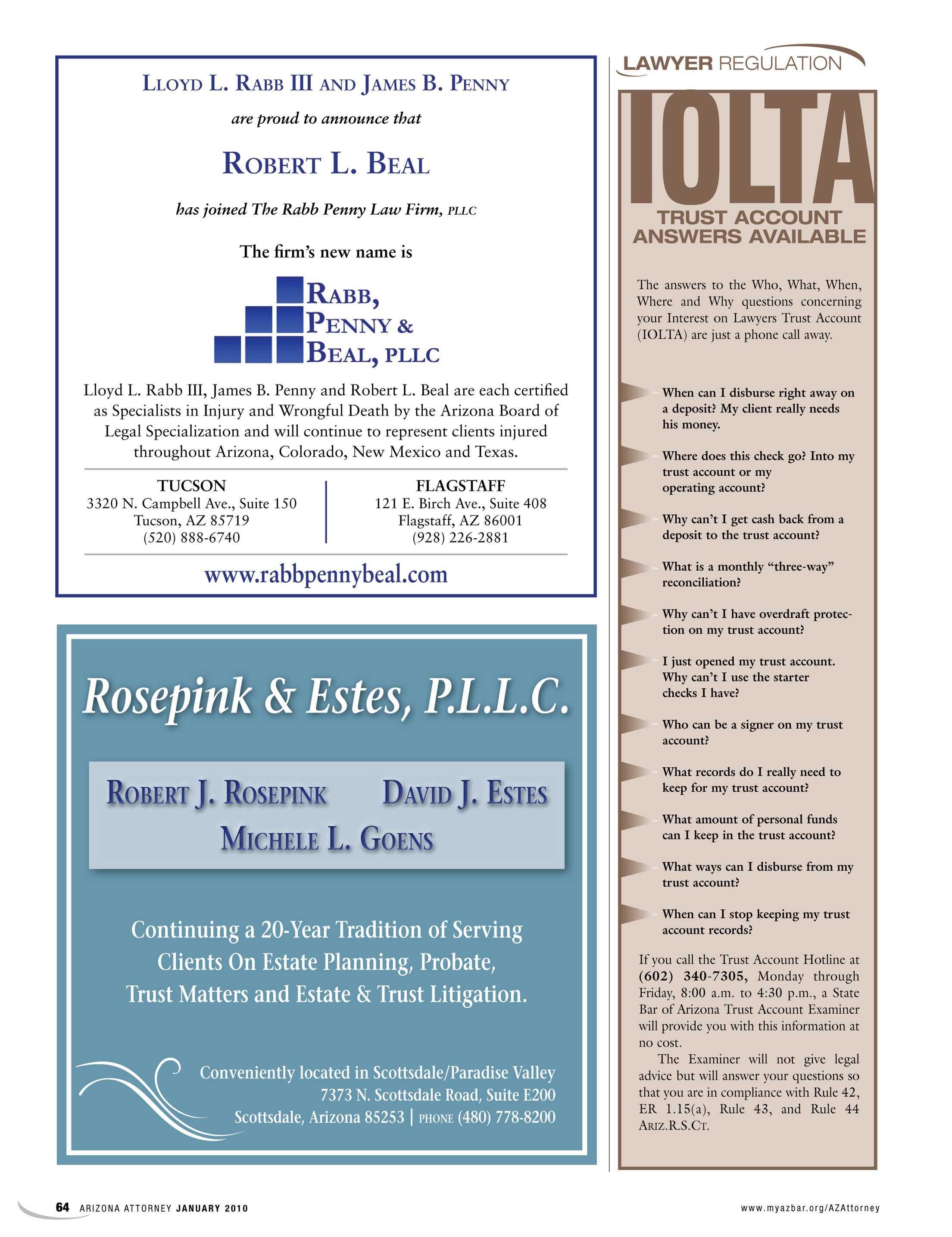 Arizona Attorney - January 2010 - page 65