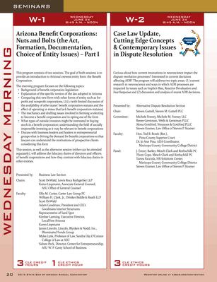 Arizona Attorney - 2015 SBA Convention Magazine - Page 20-21