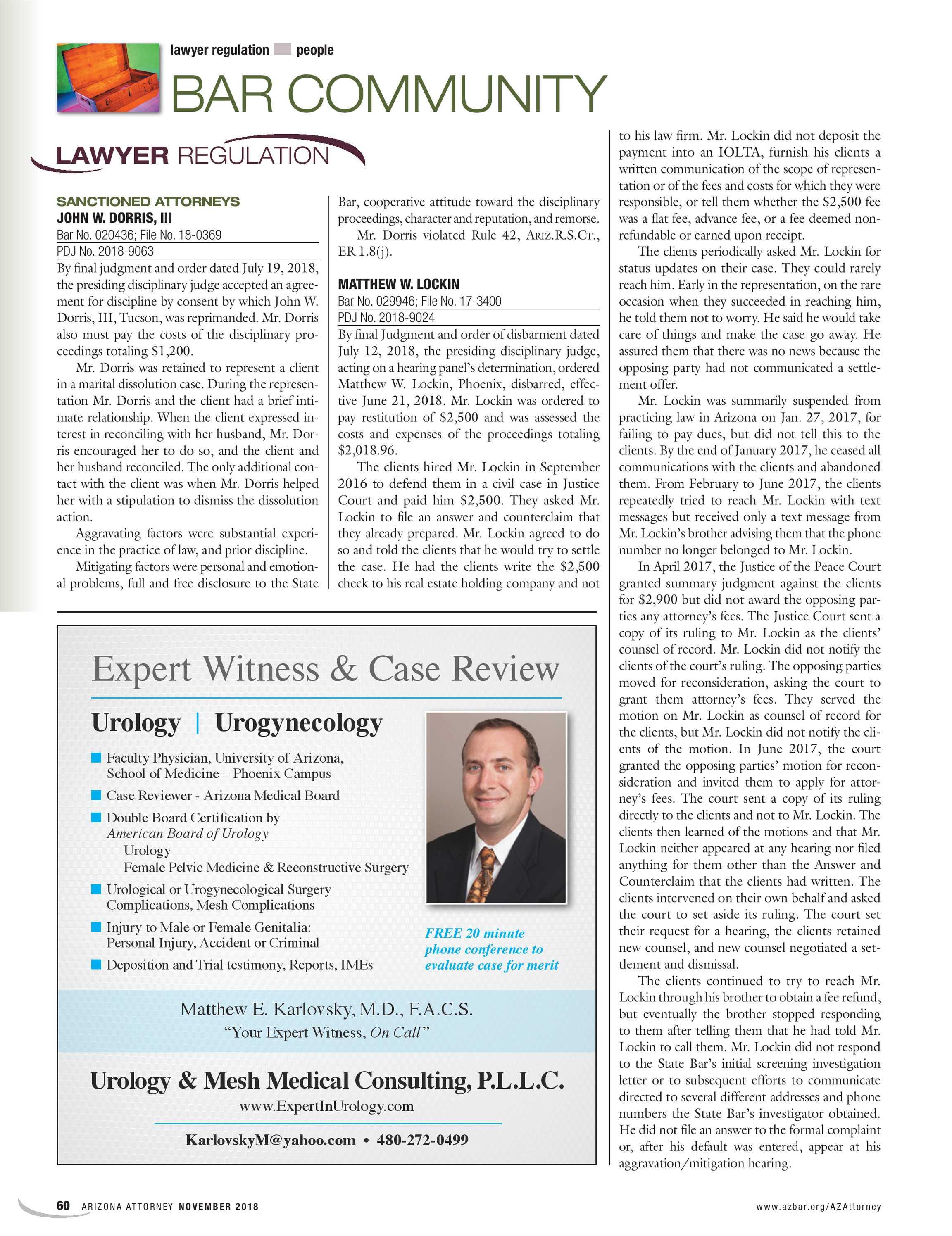 Arizona Attorney - November 2018 - page 60