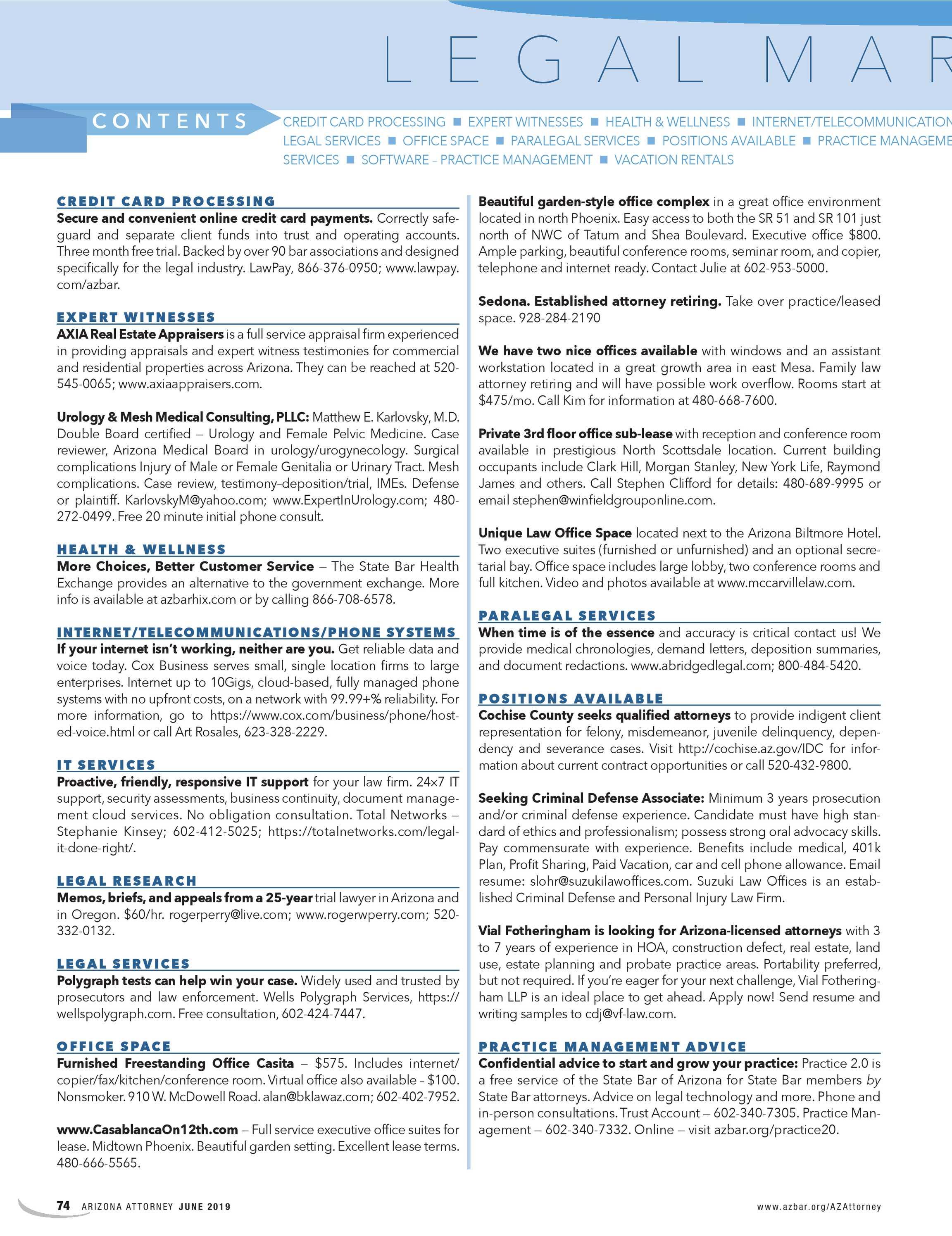 Arizona Attorney - June 2019 - page 74